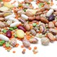 Mixed legumes: peas, lentils, beans and chickpeas